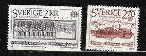 J23100 JLstamps 1985 sweden set mnh #1532-3 europa