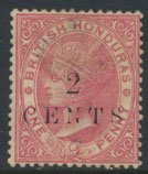 British Honduras SG 27 SC # 22 Used  2c OPT Crown CA see scans and details