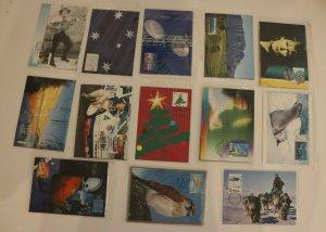 Australia Mixed Lot 13 of Maxi Card sets Mint fdc souvenir
