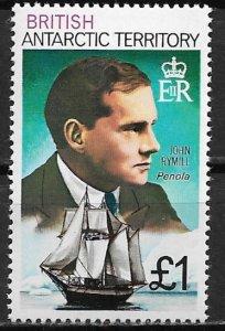 1978 British Antarctic #59  £1 John Rymill MNH