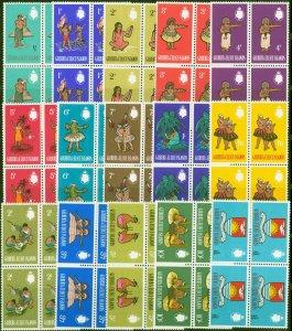Gilbert & Ellice Is 1965 set of 15 SG89-103 Superb MNH Blocks of 4