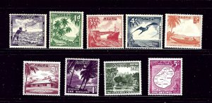Nauru 39-47 MNH 1954 Definitive Set