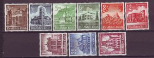 J25154 JLstamps 1940 WWII nazi germany set mng #b177-185 buildings