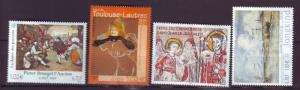 J20368  jlstamps 2001 france mnh set #2798-2801 art