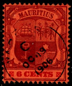 MAURITIUS SG168, 6c purple & carmine/red, VERY FINE used, CDS.