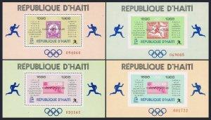 Haiti 616P-616S sheets,MNH.Mi 1044-1047 Bl.35-38. Olympic Marathon Winners,1969.