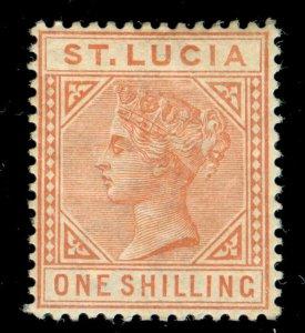 MOMEN: ST. LUCIA SG #36 1886 MINT OG H LOT #60355
