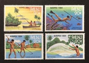 Palau 1984 #55-8, Fishing Methods, MNH.