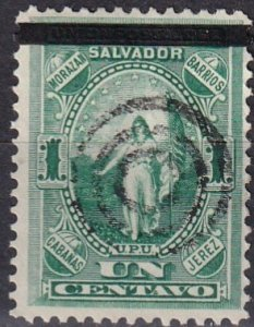 Salvador #23  F-VF  Used  CV $3.00 (Z5975)