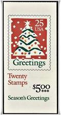 BK181 $5.00 2516a, 25c Christmas Tree (2) 1990