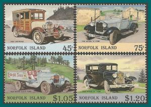 Norfolk Island 1995 Vintage Cars, MNH #569-572,SG583-SG586