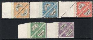 Estonia 1925 Airmail Triangle Set in Blocks of 4 MNH #C14-18