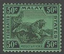 Straits Settlements #72 Mint Lightly Hinged Tiger