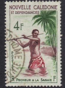 New Caledonia   1959   used    4f.   fisherman  #