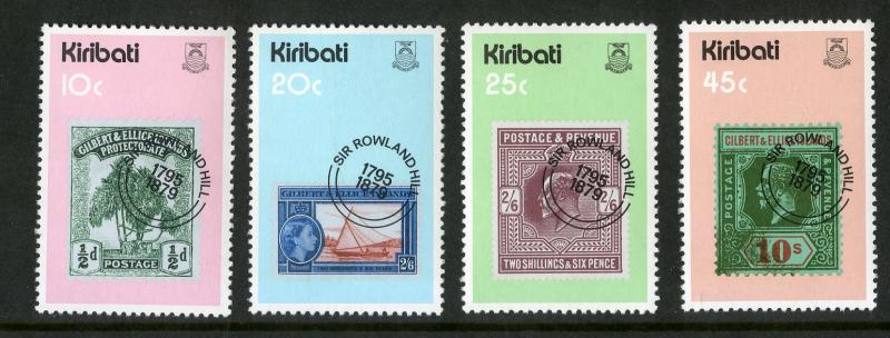 KIRIBATI 341-344 MNH SCV $1.00 BIN $0.60 STAMP ON STAMPS