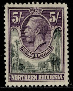 NORTHERN RHODESIA GV SG14, 5s slate-grey & violet, M MINT. Cat £55.