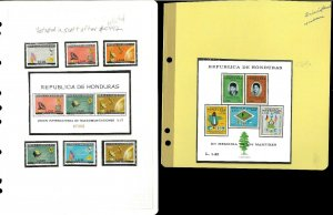Honduras 1961-1988 M & U Hinged & in Mounts on a Variety of Remaindered Pages