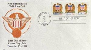 2602 Non Denominated Bulk Rate Coil Eagle with Shield Kansas City Missouri