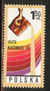 Poland Scott 2184 Used 1976  favor canceled Foundry stamp
