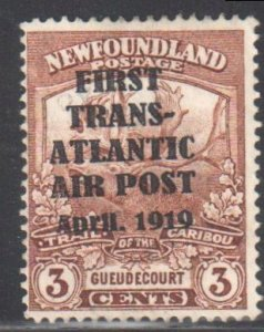 Newfoundland #C1 MINT LH Airmail Stamps Hawker Flight -- FORGERY