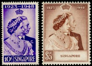 SINGAPORE SG31-32, COMPLETE SET, NH MINT. Cat £110. RSW.