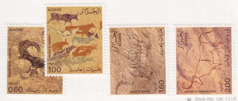ALGERIA MNH Scott # 675-678 Cave Drawings Tassili (4 Stamps)