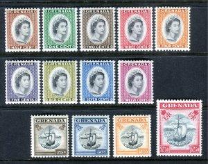 Grenada 1953 QEII. COMPLETE set of 13. Mint. LH. SG192/204.
