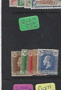 CAYMAN ISLANDS   (PP2009B) KGV  SG 69-72, 74   VFU