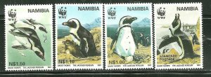Namibia MNH 821-4 Jackass Penguins WWF 1997