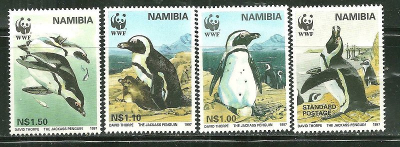 Namibia MNH 821-4 Jackass Penguins WWF 1997