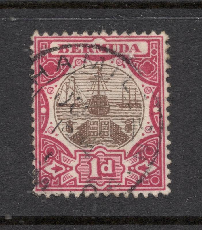 Bermuda #34 Carmine Rose & Brown - Hamilton, Bermuda Cancel