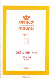 Prinz Scott Stamp Mount 201/265 mm - CLEAR (Pack of 5) (201x265  201mm)  STRIP