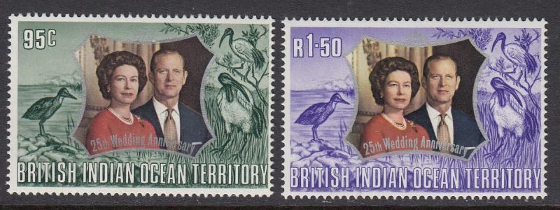 British Indian Ocean Territory 48-9 mnh