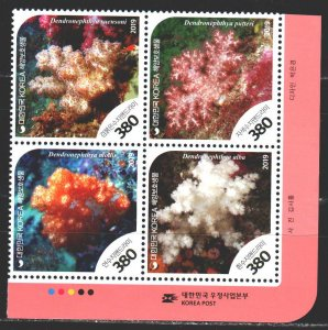 South Korea. 2019. Coral. MNH.