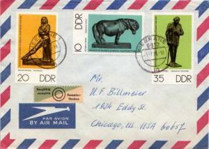 Germany D.D.R., Airmail, Art