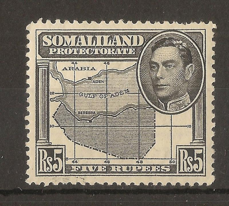 Somaliland 1938 5R SG104 LHM Cat£32