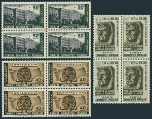 Turkey 1506-1508 bl./4,MNH.Mi 1790-1780. Faculty of Languages,History,Geography.