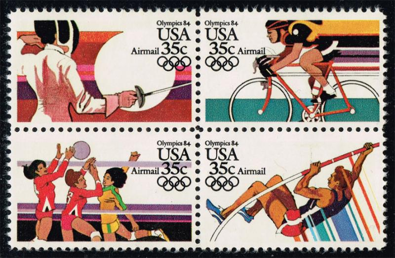 US #C112a 23rd Olympic Games Block of 4; MNH (4.00)