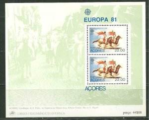 Portugal Azores MNH S/S 322a St. Peters Cavalcade Europa 1981 SCV 5.50