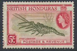 British Honduras SG 183a SC # 148 MLH  perf 14 Spiny Lobster  see scan