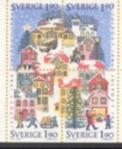 Sweden Sc 1614-7 1986 Christmas stamp set mint NH