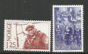NORWAY, 731-732, MNH, OLAV SAILING