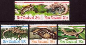 New Zealand 1984 Amphibians and Reptiles Set of 5 SG 1340-1344 MNH