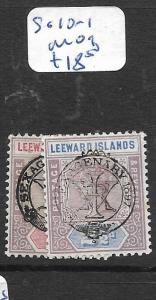 LEEWARD ISLANDS  (PP1406B)  QV  SEX  SG 10-1   MOG