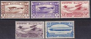 Egypt #172-6 MNH  CV $90.00  (Z2957)