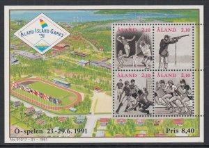 Aland 58 Sports Souvenir Sheet MNH VF