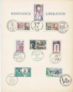 france  1944 - 1984 liberation stamps & special cancels page ref r12647
