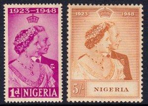 Nigeria - Scott #73-74 - MLH - Toning - SCV $13.85