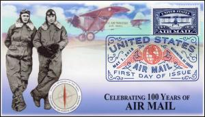 18-106, 2018, United States Air Mail, 100 Years, DCP, FDC