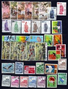 J23075 JLstamps 1970,s taiwan china used lot, couple mint #
